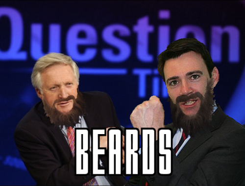 Question Time 36 Dimbleby Burnham Beards