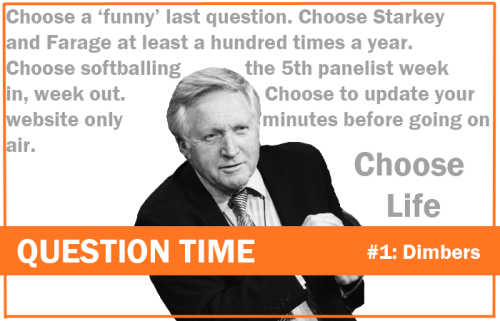 question time david dimbleby trainspotting