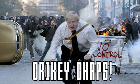boris johnson riot bike