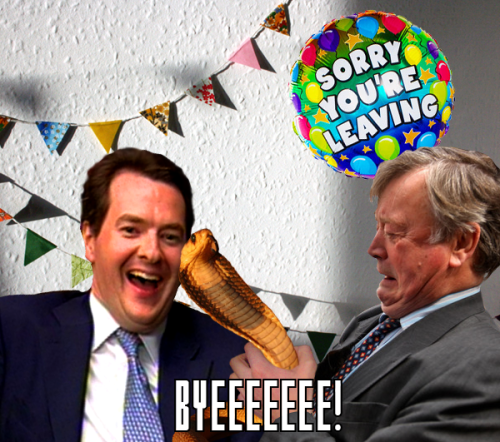 ken clarke leaving do snake george osborne