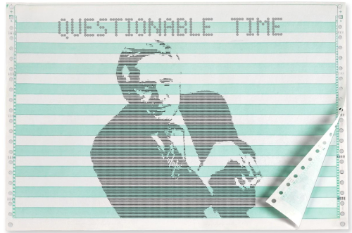 questionable time 44 david dimbleby ASCII dot matrix capped