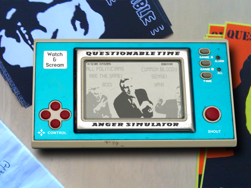 questionable time 56 david dimbleby 80's lcd game