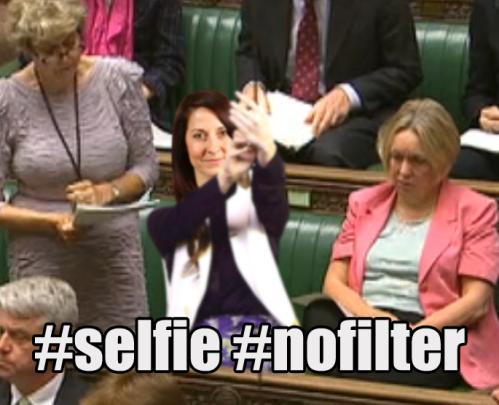 liz kendall selfie