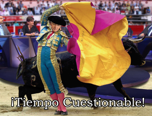 questionable time 64 david dimbleby toreador bullfighter