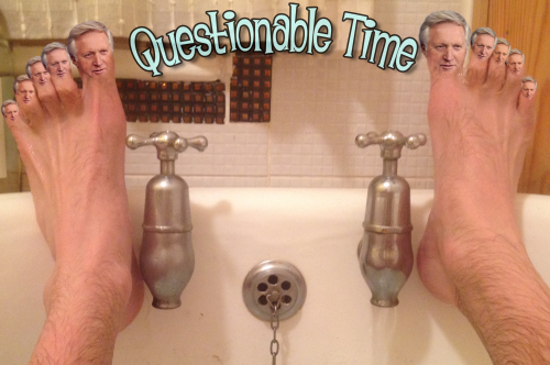 questionable time 83 david dimbleby toes
