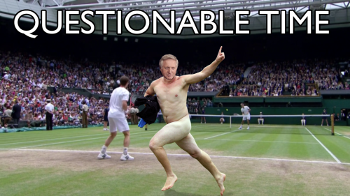 questionable time 104 david dimbleby streaker wimbledon